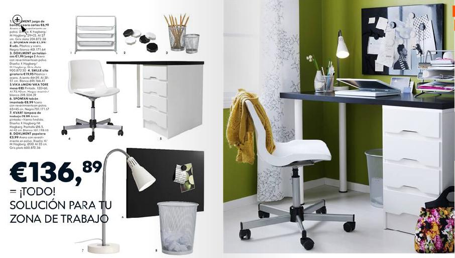 Catalogo de ikea un rincon para el estudio - Ikea mesas trabajo ...