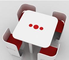 Mesa y sillas minimalistas para tu sal n for Mesas extraibles salon