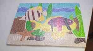 mosaico fimo