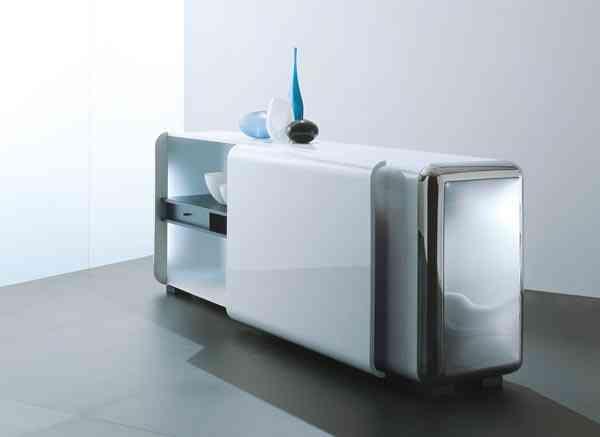 muebles contenedores con un dise o futurista