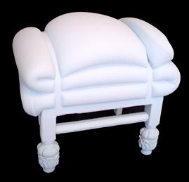 puff colchon blanco Puff reciclado de Frank Willems