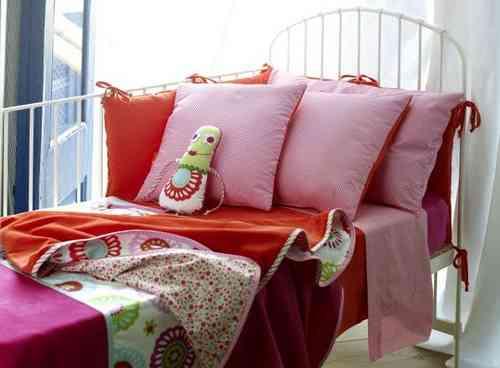 pink crib